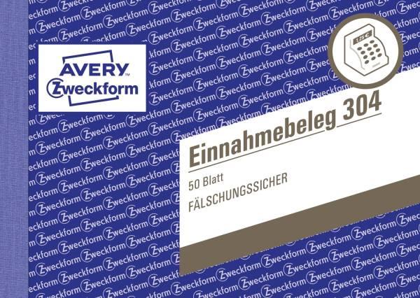 AVERY ZWECKFORM Einnahmebelege A6 50BL 304