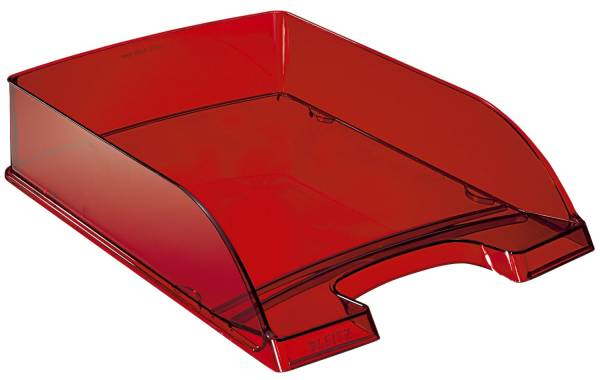 5226 Briefkorb Transparent Plus, A4, Polystyrol, rot