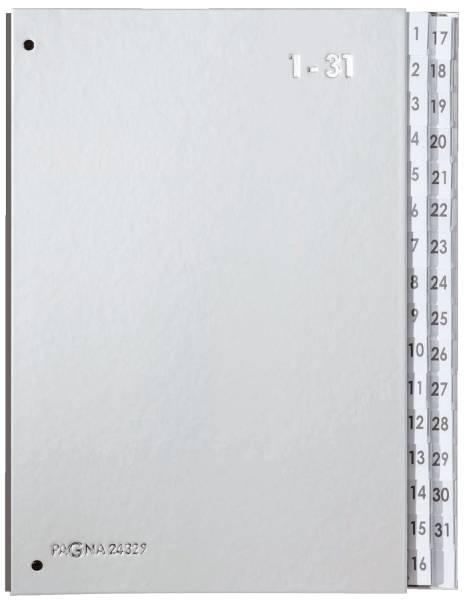 Pultordner Color Einband Tabe 1 31, 32 Fächer, silber