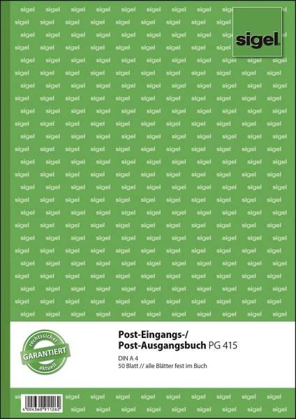 SIGEL Posteingangs/Ausgangsbuch A4 PG415