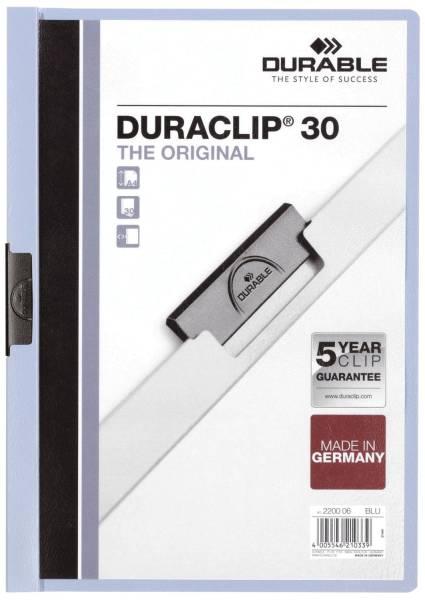 Klemm Mappe DURACLIP 30, DIN A4, blau®