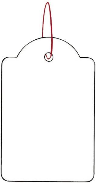 HERMA Hängeetiketten 32x50 mm weiß 6918 m. rotem Faden 1000 St.