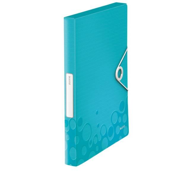 LEITZ Heftbox WOW A4 eisblau metall. 4629-00-51