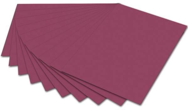 Tonpapier 50 x 70 cm, weinrot