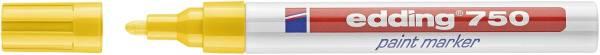 EDDING Lackmalstift 750 2-4mm gelb 4-750005 Rundspitze