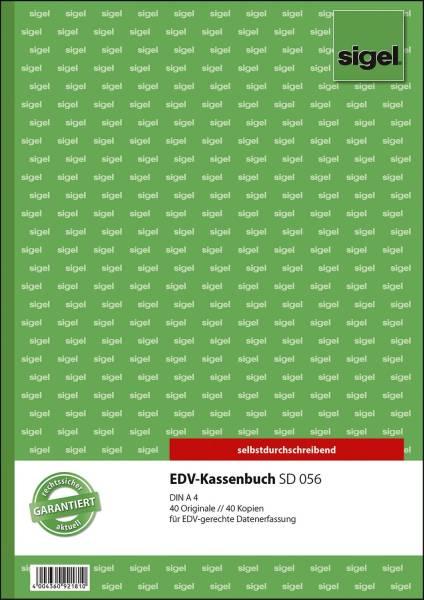 EDV Kassenbuch A4, 1 und 2 Blatt bedruckt, SD, MP, 2 x 40 Blatt