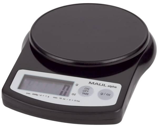 Briefwaage alpha, 2000 g, 1 g, 137 x 36 x 188 mm, schwarz