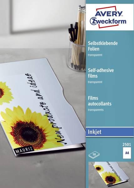 AVERY ZWECKFORM Inkjetfolie SK A4 50BL 2501