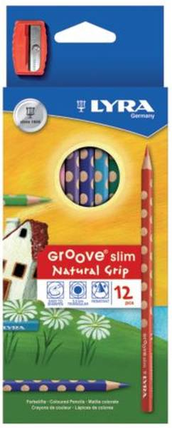 Farbstift Groove slim Ø 3,3 mm, 12 Farben + Anspitzer, Kartonetui