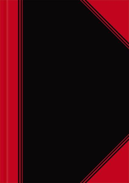 LANDRE Chinakladde A6 96Bl liniert 100302825 schwarz/rot