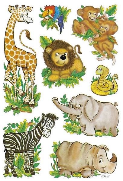 3793 Sticker DECOR Dschungeltiere