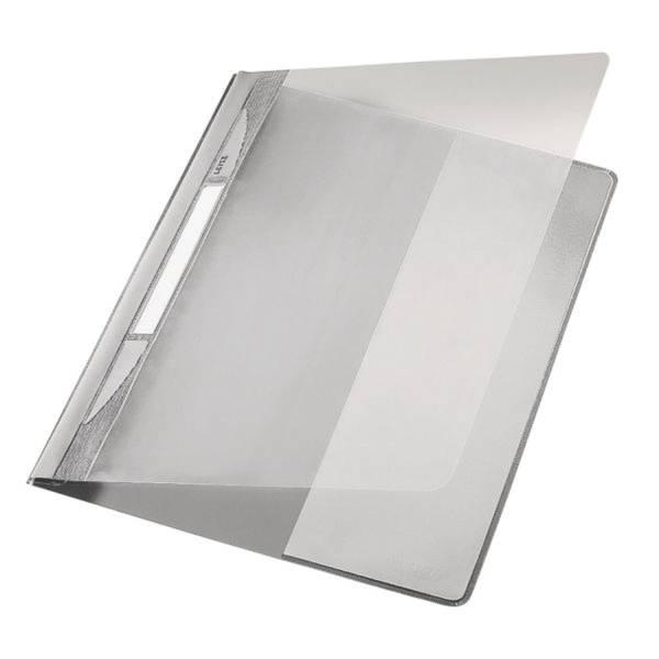 LEITZ Schnellhefter A4 Plastik grau 4194-00-85 mit Tasche