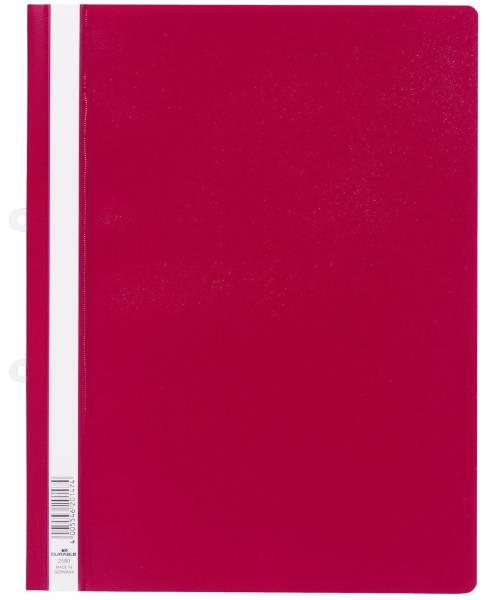 Sichthefter mit Abheftschieber Hartfolie, 0,16 mm, A4 überbreit, rot
