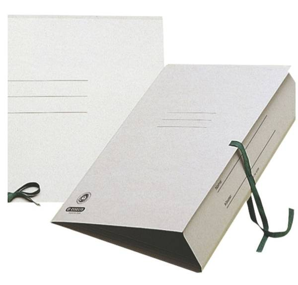 Zeichnungsmappe mit Bändern, A3, Karton, grau