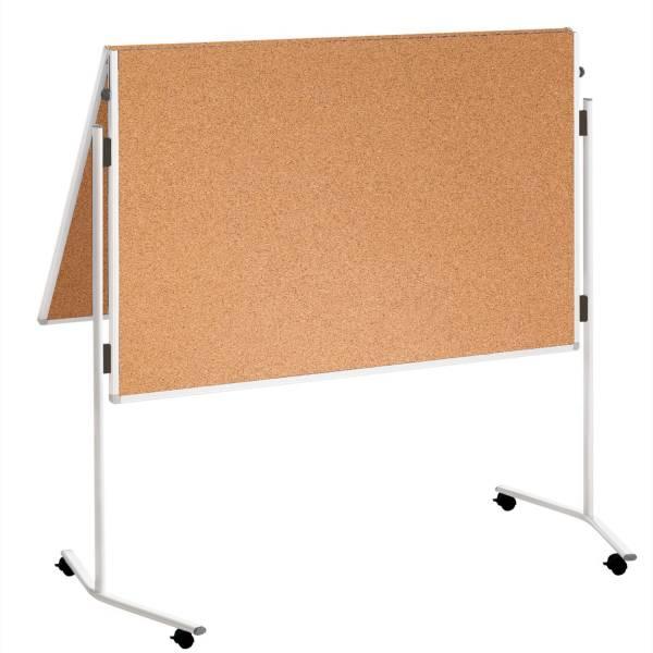 Moderationstafel ECO 120 x 150 cm, braun Kork, mit Rollen