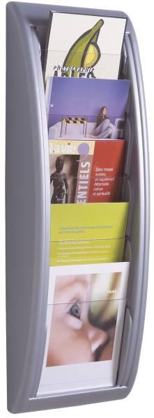 PAPERFLOW Wand-Prospekthalter A5 silber 4063.35 QuickBlick