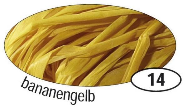 FOLIA Bast Raffia matt bananengelb 9014 50g Naturbast
