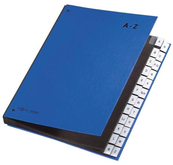 PAGNA Pultordner A4 A-Z blau 24249-02 24-teilig