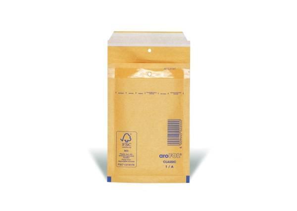 Luftpolstertaschen Nr 1, 100x165 mm, braun, 10 Stück