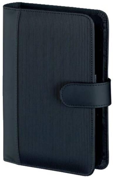 BSB Zeitplaner Kunststoff A6 Rille 02-0406 schwarz