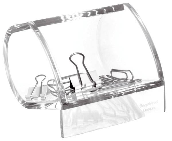 Acryl Klammernspender, 85 x 77 x 64 mm, glasklar