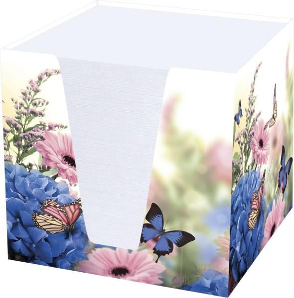 """Notizklotz """"Hortensie"""" 900 Blatt, 70 g qm, weiß, 95 x 95 x 95 mm"""