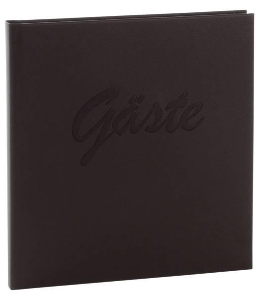 GOLDBUCH Gästebuch Leder schwarz 48958 Goldschnitt 200 Seiten