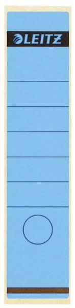 1640 Rückenschilder Papier, lang breit, 100 Stück, blau
