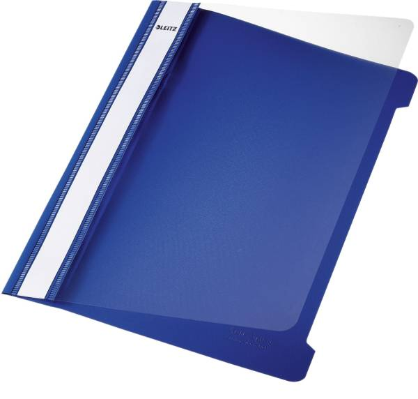 4197 Hefter Standard, A5, langes Beschriftungsfeld, PVC, blau