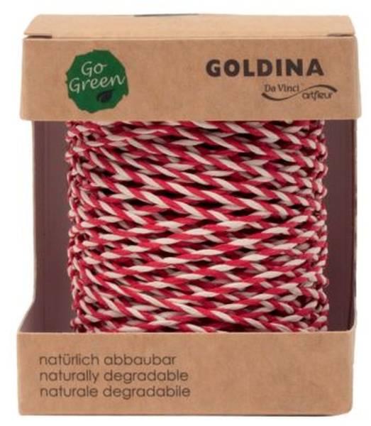 GOLDINA Kordel 2mm-40m rot/weiß 4017 0220/01 0040