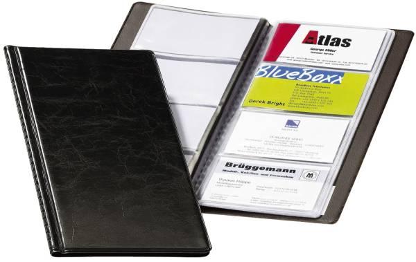 DURABLE Visitenkartenbuch 25x12 cm schwarz 2380 01 Hochformat f. 96 Karten