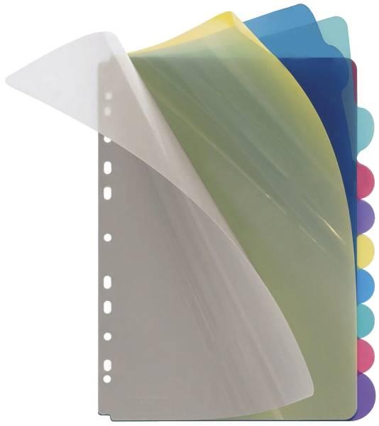 Register blanko, PP, A4, 10 Blatt, farbig