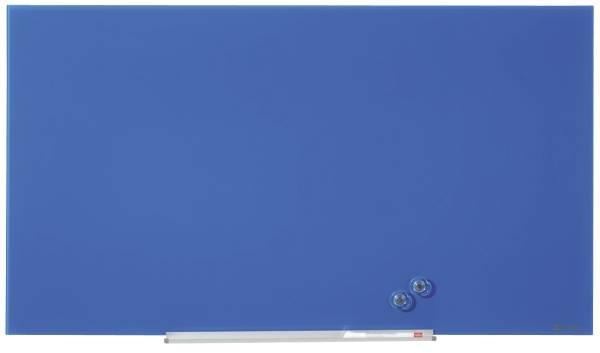 NOBO Magnettafel Glas Diamond blau 1905188 56x100cm