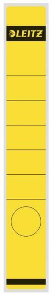 1648 Rückenschilder Papier, lang schmal, 10 Stück, gelb