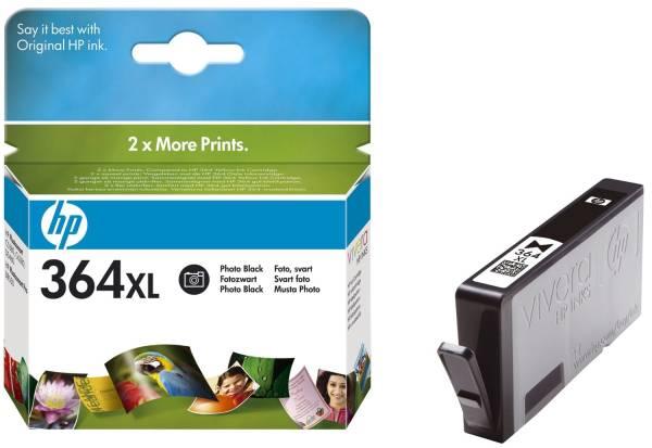 HP Inkjetpatrone Nr. 364XL foto schwarz CB322EE Vivera