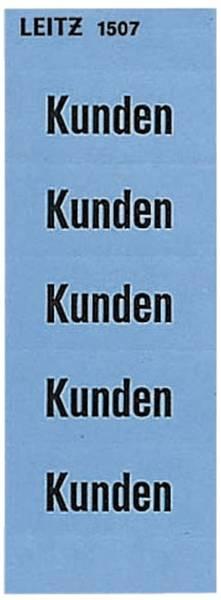 1507 Inhaltsschild Kunden, selbstklebend, 100 Stück, blau