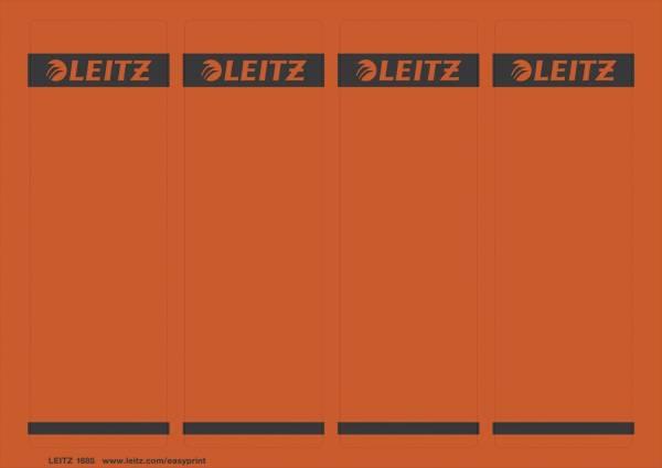 1685 PC beschriftbare Rückenschilder Papier, kurz breit,100 Stück, rot