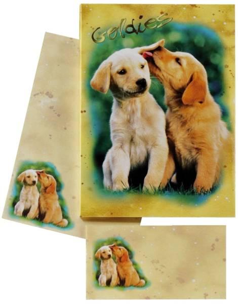 DFW Briefpapier Kinder 10/10 farb. 180350 Hundewelpen