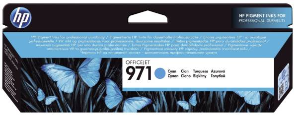 HP Inkjetpatrone Nr. 971 cyan CN622AE