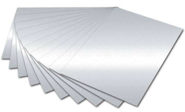 Tonpapier A4, silber glänzend