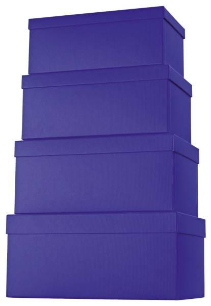 Geschenkkarton 4 tlg , hoch, dunkelblau