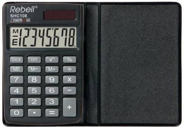 REBELL Taschenrechner 8-stellig schwarz RE-SHC108 BX
