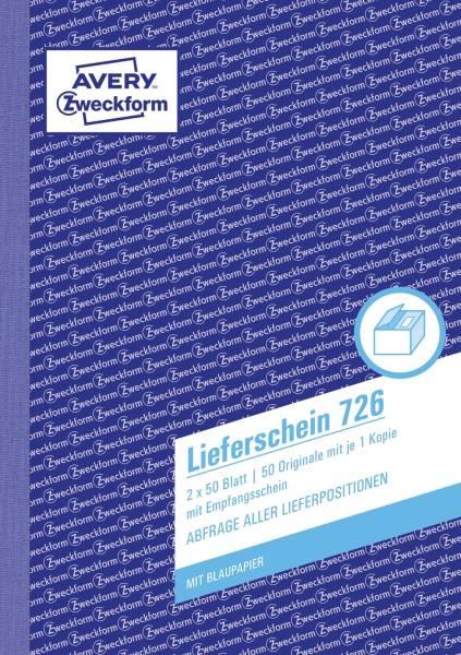 726 Lieferscheine mit Empfangsschein, DIN A5, mit Empfangsschein, 2 x 50 Blatt, weiß, rosa