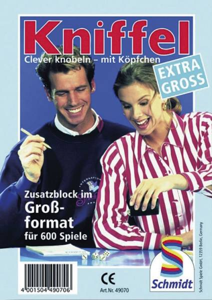 SCHMIDT Kniffelblock gross 49070