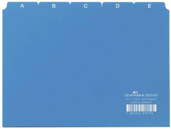 Leitregister A Z DIN A5 quer, blau