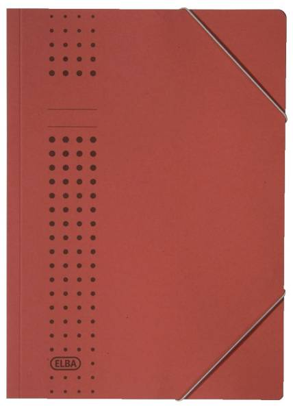 Eckspanner chic, Karton (RC), 320 g qm, A4, rot