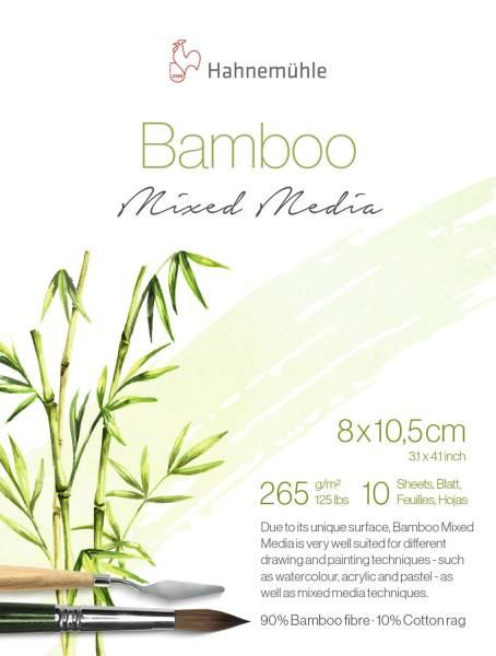 HAHNEMÜHLE Zeichenblock Bamboo 265g/m² naturweiß 10603074 8x10,5cm 10 Blatt