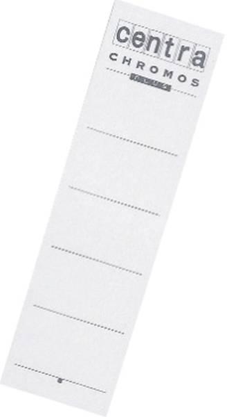 Rückenschilder zum Einstecken Karton, kurz breit, 10 Stück, weiß