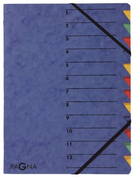 Ordnungsmappen EASY mit 12 Fächern, blau