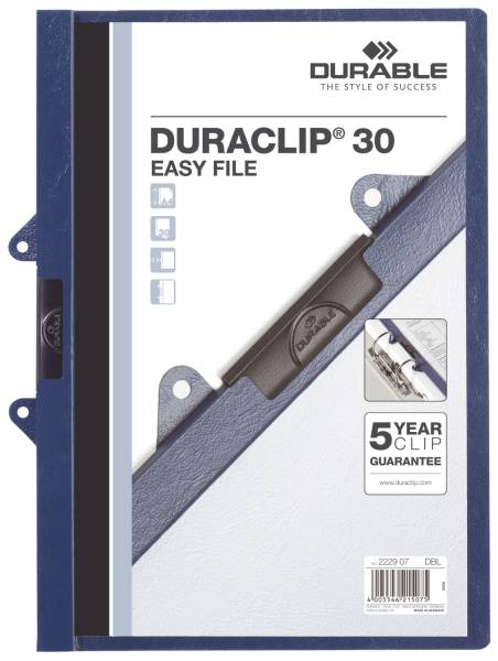 DURABLE Clip-Mappe dkl.blau 2229 07 EASY FILE